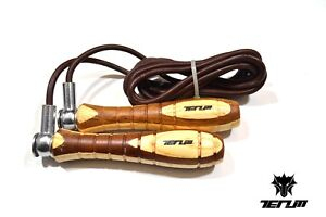 TenumSkipping Rope Leather Adjustable Speed Fitness Exercise Workout Gym Jumping