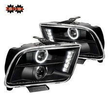 05-09 Ford Mustang Glossy Projector Headlights LED DRL Convertible GT Cobra SVT