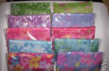 THREE Floral Mesh Cosmetic Bags with Attached Mirror