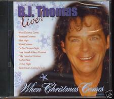 B.J. THOMAS - WHEN CHRISTMAS COMES LIVE ! - NEW CD