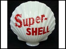 """Reproduction Super Shell Gas Pump Globe approx 17""""w x 17""""h"""