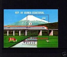 Eq GUINEA - 1972 - TRAIN - LOCOMOTIVE - JAPANESE - S/SHEET!