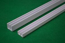 1.8m 4mm White PVC Glass Runners Track fit 6ft Vivarium Doors(2x90cm)Top+Bottom