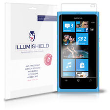 iLLumiShield Phone Screen Protector w Anti-Bubble/Print 3x for Nokia Lumia 800