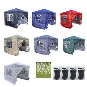 Panana 2.5x2.5m Pop-Up Gazebo Waterproof Garden Outdoor Party Tent w Carry Bag