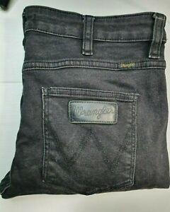 """Wrangler Strangler Jeans - Black - 32"""" Waist"""