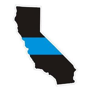 California CA State Thin Blue Line Police Sticker / Decal #144 Made in U.S.A.