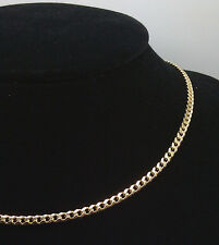 10K Solid Yellow Gold Cuban Link Chain 3mm 24 Inches Long #A11B6