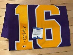 Los Angeles Kings Marcel Dionne Signed Custom Purple Jersey BAS Beckett COA