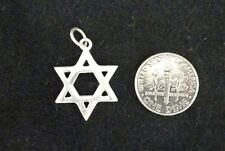 "New -  925 Sterling Silver 3/4"" Star of David Pendant"