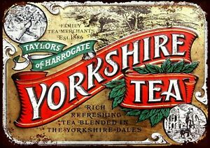 Yorkshire tea metal wall sign