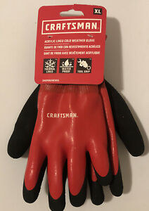 Craftsman Acrylic Thermal Lined Waterproof Cold Weather Work Gloves Size XL