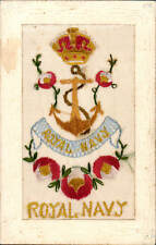 World War 1 Regimental silk. Royal Navy. Anchor.