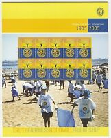 2005 STAMP PRESENTATION MINI SHEET 'CENTENARY OF ROTARY INT' 10 x 50c MNH STAMPS