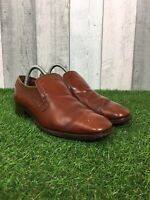 Loake Size UK 8 Leather Slip On Penny Loafers Smart Shoes Brown Tan