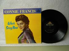Connie Francis LP Who's Sorry Now Clean 1960 Pop Rock Debut Orig!