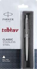 Parker Classic Steel Chrome Trim CT Ball Point Pen 0.8mm Blue Fine Ink Jotter BP