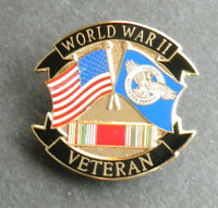 WWII WORLD WAR 2 VETERAN 1939-1945 FLAGS USA LAPEL PIN BADGE 1.1 INCHES