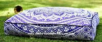 Large Square Floor Pillow Ottoman Footstool Indian Ombre Mandala Purple Dog Bed