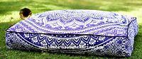 Grand Carré Pouf Ottomane Repose-Pieds Indien Ombre Mandala Violet Chien Lit