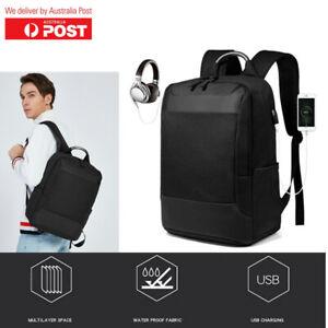 Waterproof Laptop Backpack Travel Large Capacity USB Charging Port Shoulder Bag