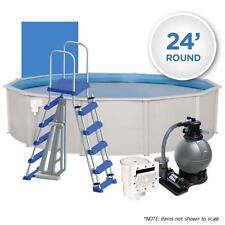 Oceania Weekender 24' Round Simple Above Ground Swimming Pool Package Kit
