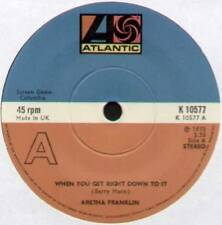 """[BARRY MANN] ARETHA FRANKLIN ~ WHEN YOU GET RIGHT DOWN TO IT ~ 1975 UK 7"""" SINGLE"""