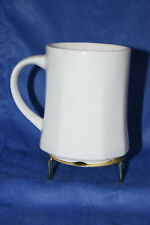Coffee Cup - Eschenbach - White - Paneled Sides - Bavaria, Germany