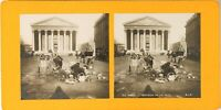 FRANCE Paris Travaux de La Rue Royale, Photo Stereo Vintage Argentique 1900