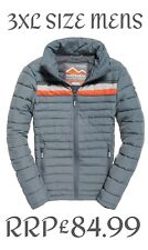 NEW RRP£84.99 3XL SIZE MENS SUPERDRY COLOUR STRIPE FUJI WINTER JACKET GREY 9552