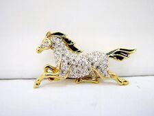 Vintage A&S Pferd Brosche Attwood & Sawyer Horse Brooch um 1970