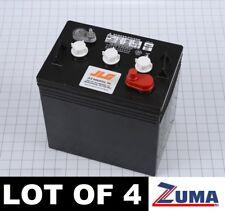 Skyjack 103480 (LOT OF 4) 6 Volt Deep Cycle Scissor Lift Battery (216AH @20 Hr)