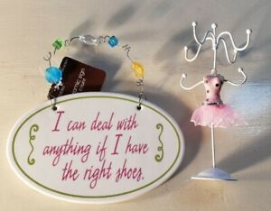 Fun Fashionista Set: The Right Shoes & Ballerina Necklace Holder