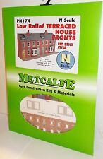 Metcalfe PN174 Low Relief Terraced House Fronts Red Brick