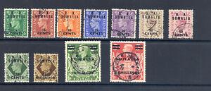B.O.I.C.  SOMALIA  SG S 21-31  1950 GVI DEFINITIVES SET FINE USED.