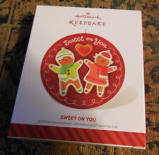 2014 Hallmark Ornament SWEET ON YOU Gingerbread Boy and Girl cookie NEW IN BOX