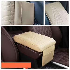 PU Leather Car Center Console Armrest Box Cushion Mat Pad Fit For Auto Truck SUV