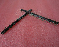 50PCS 2.54mm 2 x 40 Pin Male Double Row Pin Header Strip New High quality