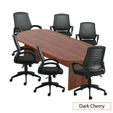 Gof 8ft Conference Table And 6 Chair Set Cherry G10902b Chair Only Available