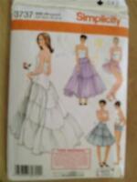 Simplicity Sewing Pattern 3737 Misses Ladies Petticoat Panties Size 6-12 Uncut