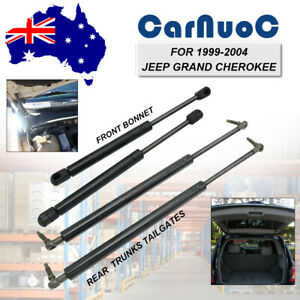 4Pcs Front Gas Struts + Rear Liftgates Tailgates For Jeep Grand Cherokee 1999-04