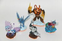 Skylanders Giants Lot of 5 Figures ZAP SWARM WHIRLWIND TERRAFIN FLASHWING