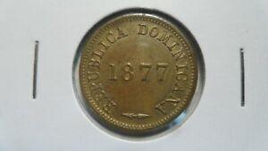 Dominican Republic 1 Centavo, 1877, UNC