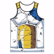 Dragon Ball Z Vegeta Cell Saga Damaged Saiyan Armor Workout Gym Fitness Tank Top