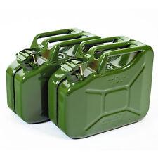 2x Oxid7® Metallkanister Metall Benzinkanister Stahlblechkanister olivgrün 10 L