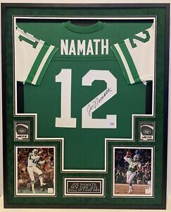JOE NAMATH NEW YORK JETS #12, AUTOGRAPHED FRAMED JERSEY, FANATICS