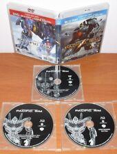 Pacific Rim [2 Blu-Ray's & Region Free A B C + DVD Zona 2] Guillermo del Toro