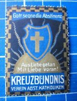 Cinderella/Poster Stamp - Austria Abstinenz Katholiken God Bless Abstinence 9521