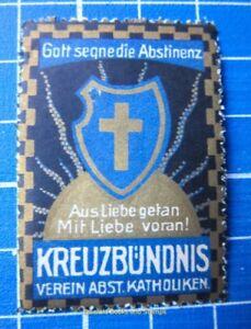 Cinderella/Poster Stamp - Austria Abstinenz Katholiken God Bless Abstinence 9521