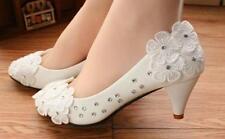 Decolté decolte scarpe donna ballerina bianco evento pizzo sposa 3.5, 4.5  9343